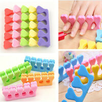Lots 10x Soft Sponge Foam Nail Art Finger Toe Manicure Pedicure Separator Salon
