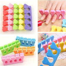 20x Soft Sponge Foam Finger Toe Separator Nail Art Salon Pedicure Manicure Tool