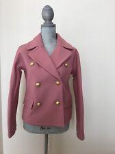 New J.Crew Size 0 # F7046 Rose Ash Cropped Double Breasted Peacoat Coat Jacket