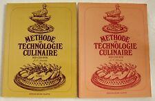 Méthode de technologie culinaire BEP CAP BTH T 1 & 2 J P SEMONIN éd J Villette