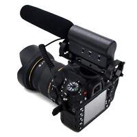 3.5mm PRO Shotgun DV Stereo Mic Microphone for Canon Nikon DSLR Camera Cam