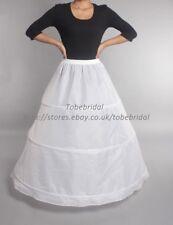 3 Aros Vestido Blanco De Novia Enaguas Crinolia Damas Baile Vestido De Fiesta