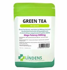 Green Tea Tablets extract eq 9000mg Lindens Pack 60