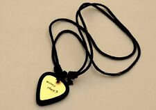 Guitar Pick Holder Necklace with Custom Brass Wanna Pluck Guitar Pick
