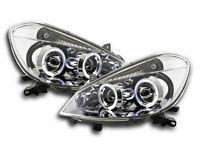 Renault Clio R Mk3 (2005-2009) Chrome Angel Eye Headlights RHD Pair FREE P&P NEW