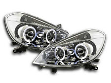 Renault Clio R Mk3 (2005-2009) Chrome Angel Eye Headlights RHD Pair FREE P&P NEW