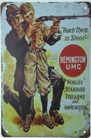 "Remington UMC Cartridges Rifle Ammo Shells Retro Metal Tin Sign 8x12"" NEW"
