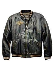 Harley-Davidson NWT Men's Leander 2XL, Leather Slim Fit Bomber Jacket 97022-19VM