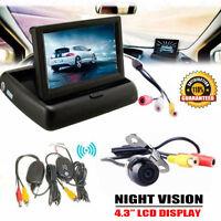 10.9cm LCD Auto Rückfahr Display Drahtlos Rückfahrkamera Einparkhilfe Set UK