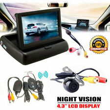 "4.3"" LCD Car Rear View Monitor Wireless Car Backup Camera Parking System Kit UK"