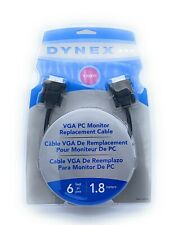 Dynex VGA 6'/1.8m PC Monitor Replacement Cable DX-C102111