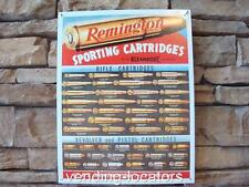 "Remington Rifle Cartridges Metal Sign 16"" x 12"" Ammo Pistol Deer Hunting Gun New"