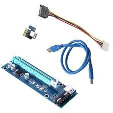 PCI-E 1x to 16x Powered USB3.0 GPU Extender Riser Adapter Card 6 Pin Bitcoin