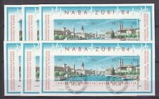 "Schweiz - 6x Block 24 ""NABA Züri' 84"", 1x KB ""100 J. Gotthard-Bahn"", usw. !!!"