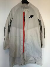 NIKE NSW LOOSE FIT LONG JACKET COAT NEW WITH TAGS OFF WHITE BEIGE SIZE MEDIUM