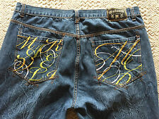 Makaveli  Branded Designer Jeans  Scrolled Logo Embroidery Back Pockets    42x32