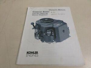 USED KOHLER COMMAND SERIES CV17-26 & CV675-750 MODEL ENGINES OWNER'S MANUAL