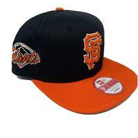 NEW San Francisco Giants New Era Black Orange Snapback Hat SF Baseball