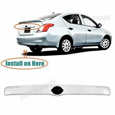 (Without Key Hole) Accessory Chrome Rear Trunk Trim For 12-17 Nissan Versa Sedan