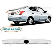 (Without Key Hole) Accessory Chrome Rear Trunk Trim For 12-17 Nissan Versa Sedan