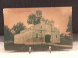 Vintage Postcard Covington Ohio Mausoleum Highland Cemetery