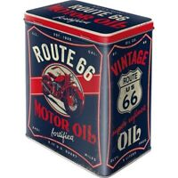 Vorratsdose Motor Oil Route 66 Gr. L Metall Hoard Box 2,8 ltr. Neu