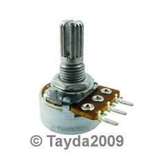 2 x 100K OHM Logarithmic Taper Potentiometer Pot A100K 100KA FREE SHIPPING