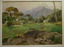 DIPINTO A OLIO SU CARTONE 1930 ca 34,5 X 26 ARTURO TERRACINA PAESAGGIO