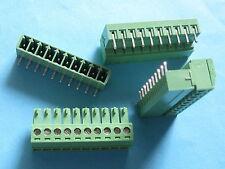 200 pcs 3.5mm Angle 10 way/pin Screw Terminal Block Connector Pluggable Type
