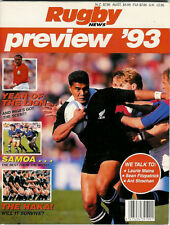 RUGBY NEWS PREVIEW 1993 NEW ZEALAND MAGAZINE BRITISH LIONS & SAMOA TOURS