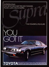 "1979 Toyota Celica Supra photo ""Powerful Pleasure"" promo car print ad"