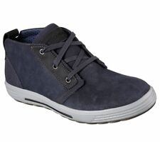 Men's Skechers Porter - Malego Mid Top Oxford Shoes, 65144 /NVY Sizes 8-14 Navy