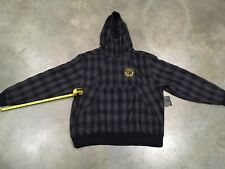 Eight732 Plaid Zip Hoodie In Gry/Nvy Retail $138!! Sz. 4xl 100% Authentic