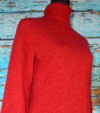 Anne Taylor Women's Turtleneck Sweater Size Medium Cashmere Red Casual Cute Fun