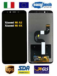 Touch Screen LCD  Vetro Display Vetro  Per XiaoMi MI A2 / MI 6X Nero