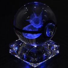 3D Crystal Pokemon Go Pokeball Vaporeon 7 color change LED desk table light lamp