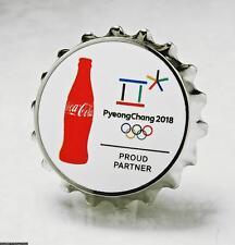 OLYMPIC PINS BADGE 2018 PYEONGCHANG SOUTH KOREA COKE SPONSOR BOTTLE CAP