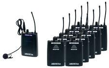 VocoPro SilentPA-TOUR1016CH UHF Wireless Audio Broadcast System 10 Bodypack Rcv