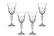 Melodia Sherry Stemmed Wine Glasses 5.5 Oz, Crystal Cut Glassware Set of (4)