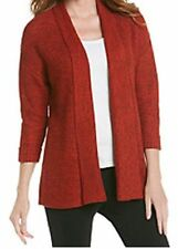 Laura Ashley NEW Tweed Open Front Cardigan Sweater Harvest Rust Size S ~ NWT $88