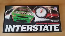 INTERSTATE BATTERIES SIGN WITH CLOCK BOBBY LABONTE