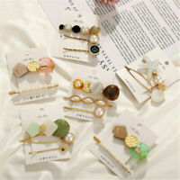 3Pcs Snap Accessories Women Barrette Clips Hair Plastic Hairpin Pearl Stick