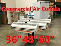 """NEW Commercial 36"""" 2 Speed Air Curtain UL w/ Door Switch High Low Fan"""