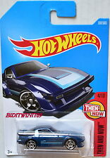 HOT WHEELS 2017 THEN AND NOW MAZDA RX-7 #4/10 BLUE