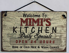 Mimi s Sign Kitchen Grandma Mom Diner House Bake Cook Cookie Grand Parent Home