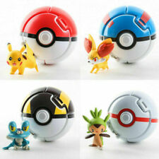 4 PK Bounce Pokemon Pokeballs Cosplay Pop-up Elf Go Fighting Poke Ball Toy Gift