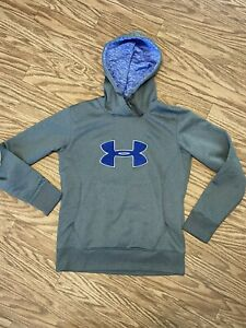 Sz S Gray Hoodie With Blue Logo On Front: Under Armour