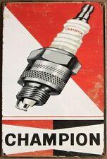 CHAMPION Vintage Retro Metal Tin Sign Plaque Garage Bar Pub ManCave- Home Decor,