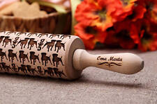 Pitbull Embossed Dough Roller Engraved rolling pin Embossed Rolling Cutter