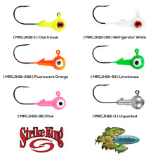 Strike King Panfish Mr. Crappie Jig Heads 1/8oz Choose Any 6 Colors  MRCJH18